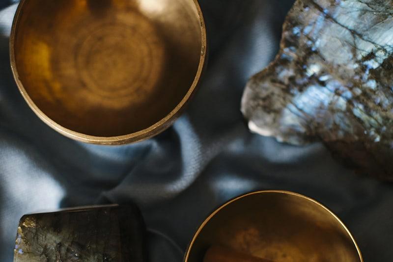 gold sound healing bowls