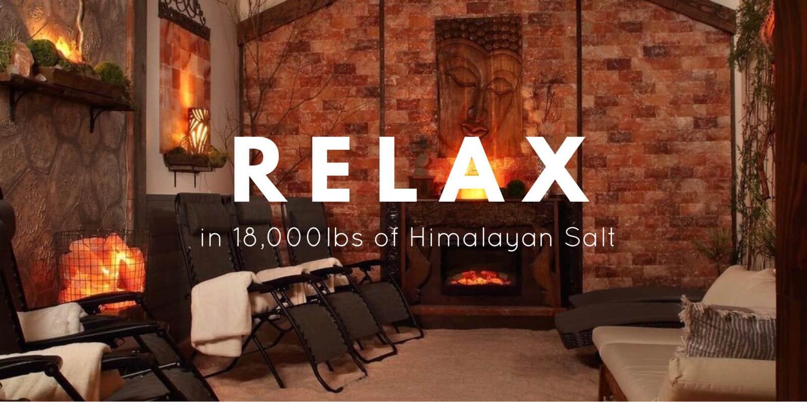 relaxing himalayan salt cave